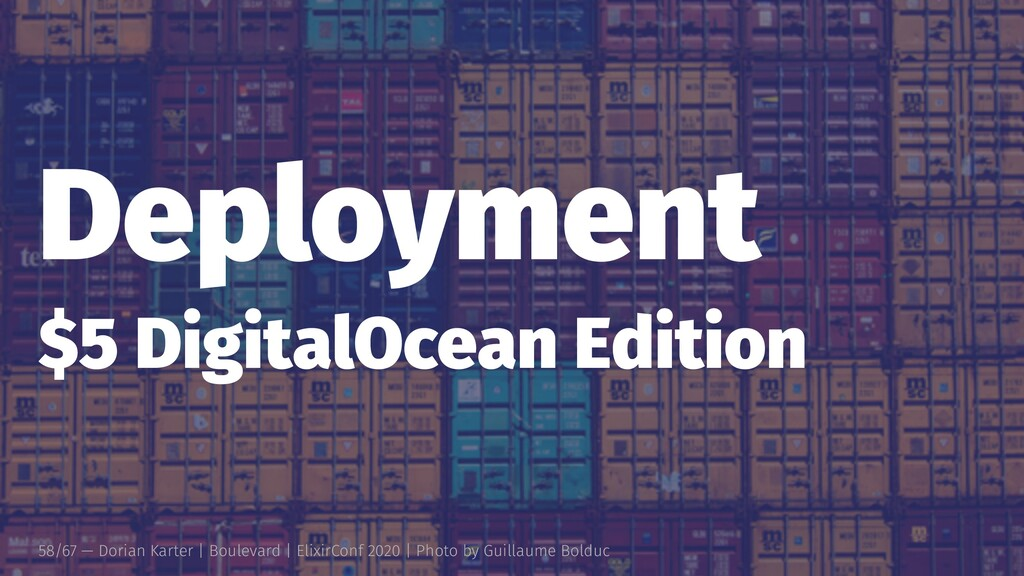 Deployment $5 DigitalOcean Edition 58/67 — Dori...