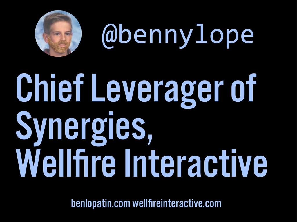 Chief Leverager of Synergies, Wellfire Interacti...