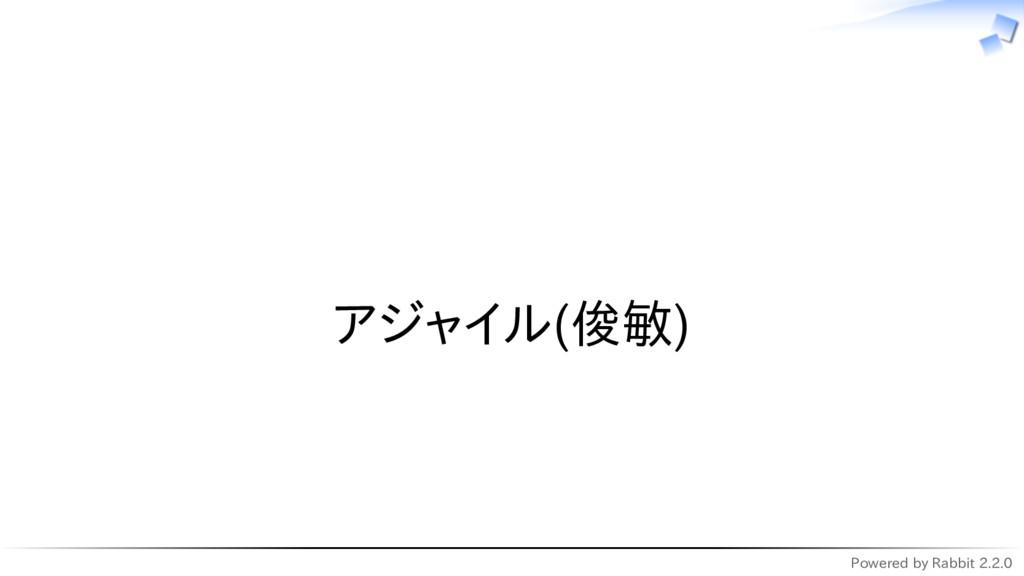 Powered by Rabbit 2.2.0   アジャイル(俊敏)