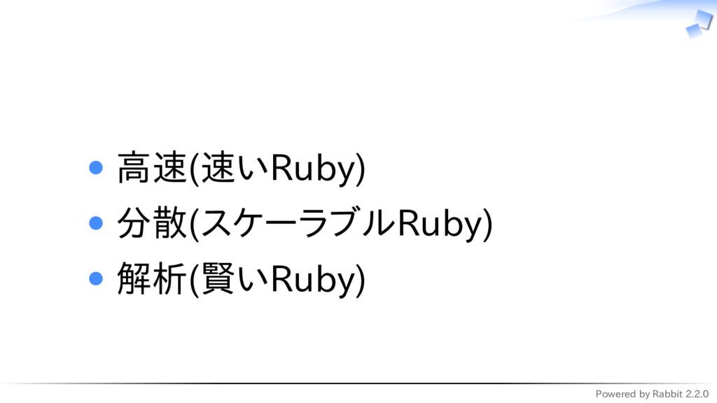 Powered by Rabbit 2.2.0   高速(速いRuby) 分散(スケーラブルR...