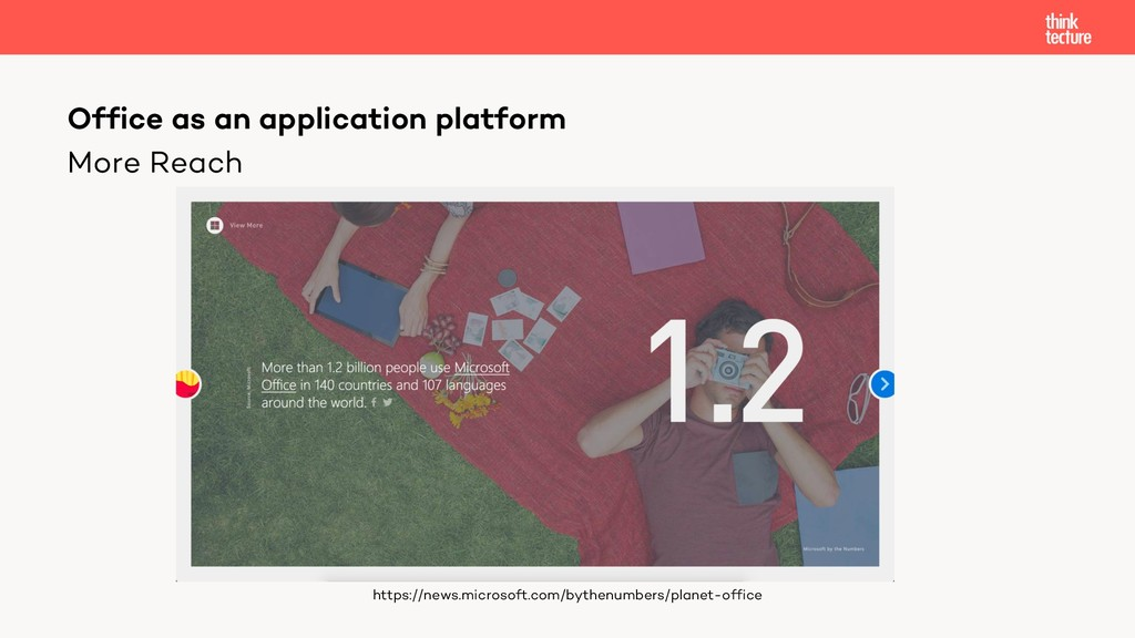 More Reach Office as an application platform ht...
