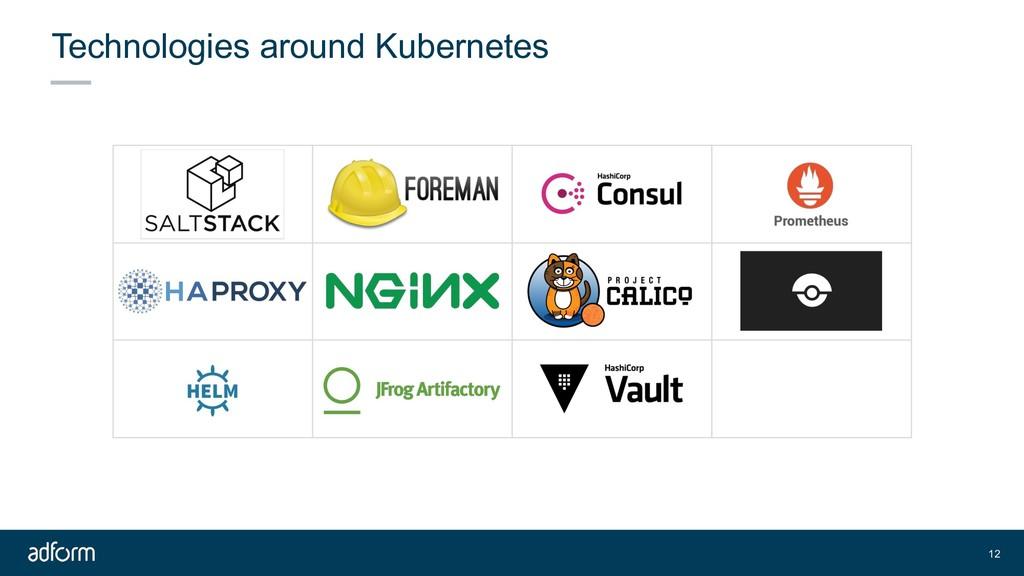 Technologies around Kubernetes 12
