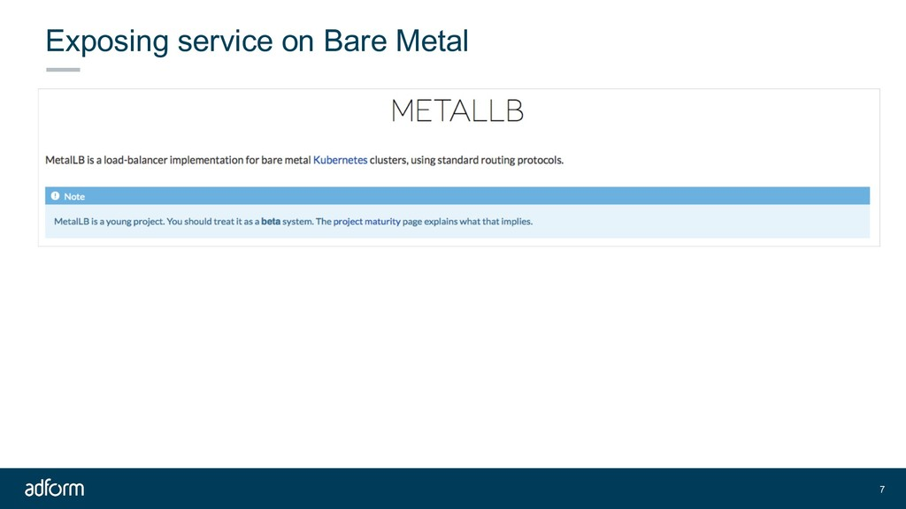 Exposing service on Bare Metal 7