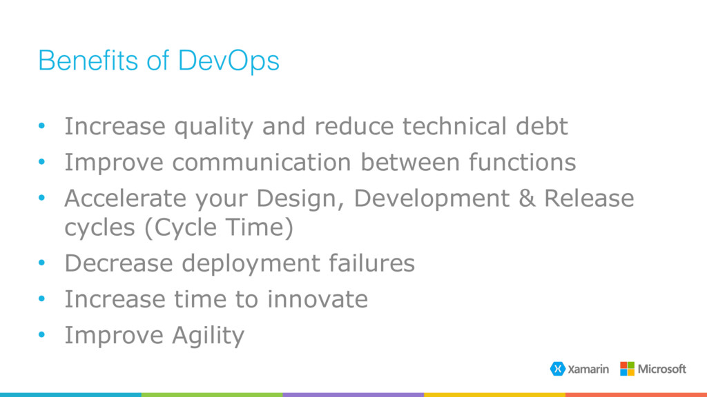 Benefits of DevOps • Increase quality and reduc...