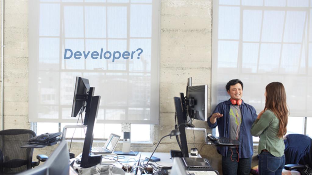 Developer?