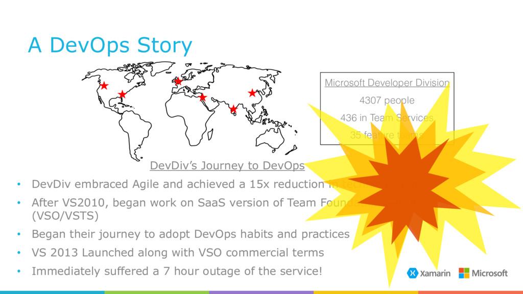 A DevOps Story DevDiv's Journey to DevOps • Dev...