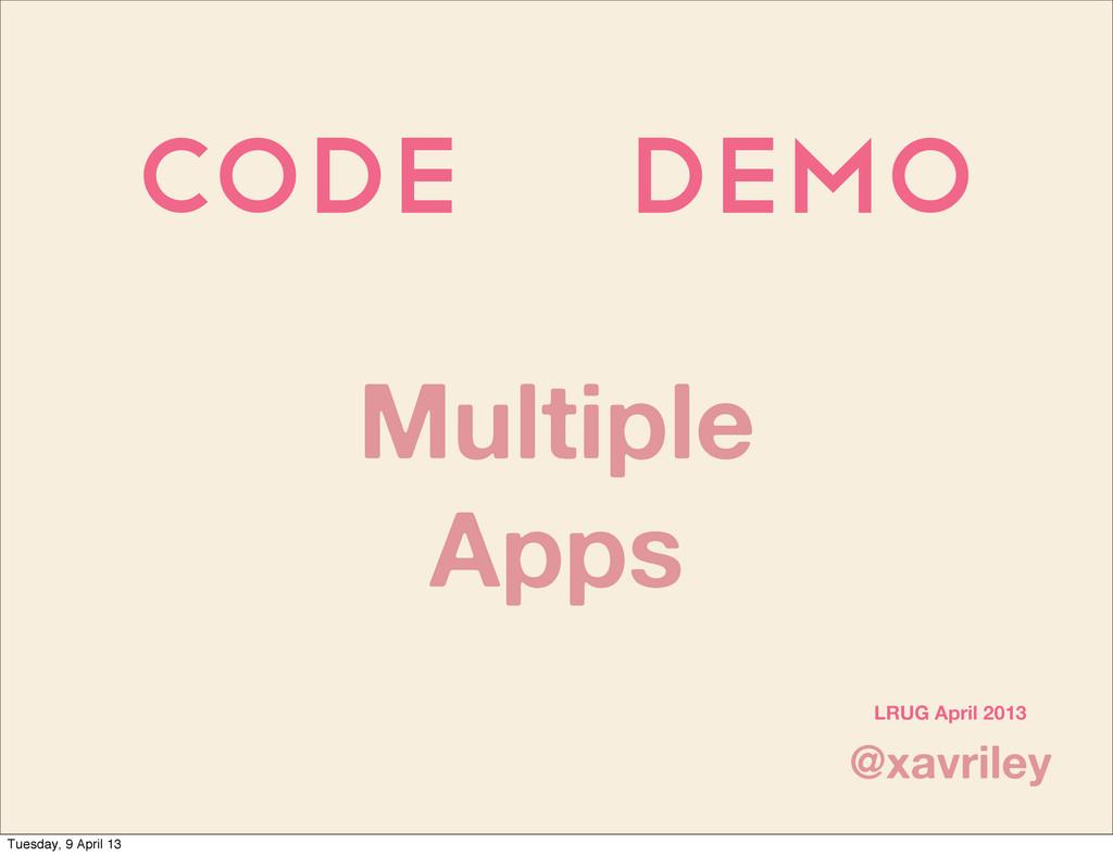 Code demo @xavriley LRUG April 2013 Multiple Ap...