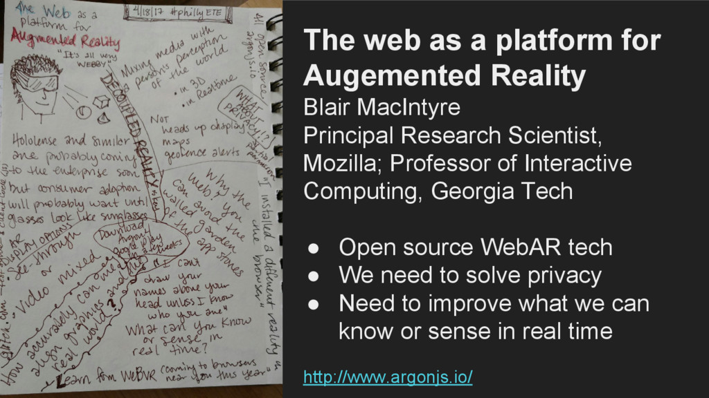 The web as a platform for Augemented Reality Bl...