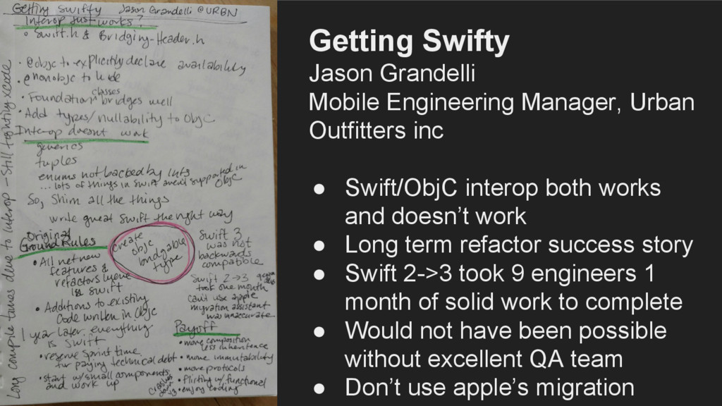 Getting Swifty Jason Grandelli Mobile Engineeri...