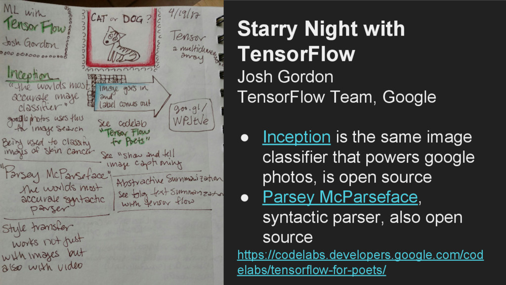 Starry Night with TensorFlow Josh Gordon Tensor...