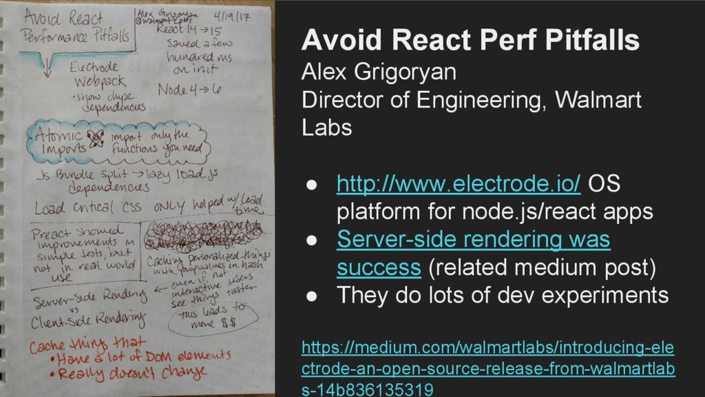 Avoid React Perf Pitfalls Alex Grigoryan Direct...