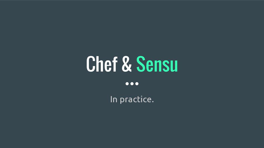 Chef & Sensu In practice.