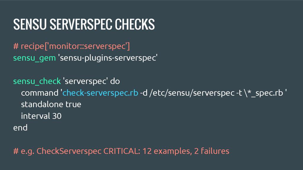 SENSU SERVERSPEC CHECKS # recipe['monitor::serv...