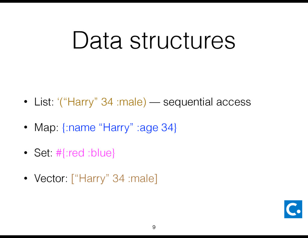 "Data structures • List: '(""Harry"" 34 :male) — s..."