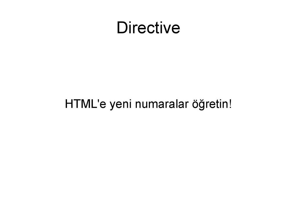 Directive HTML'e yeni numaralar öğretin!