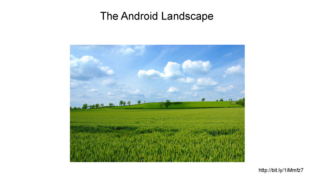 http://bit.ly/1iMmfz7 The Android Landscape