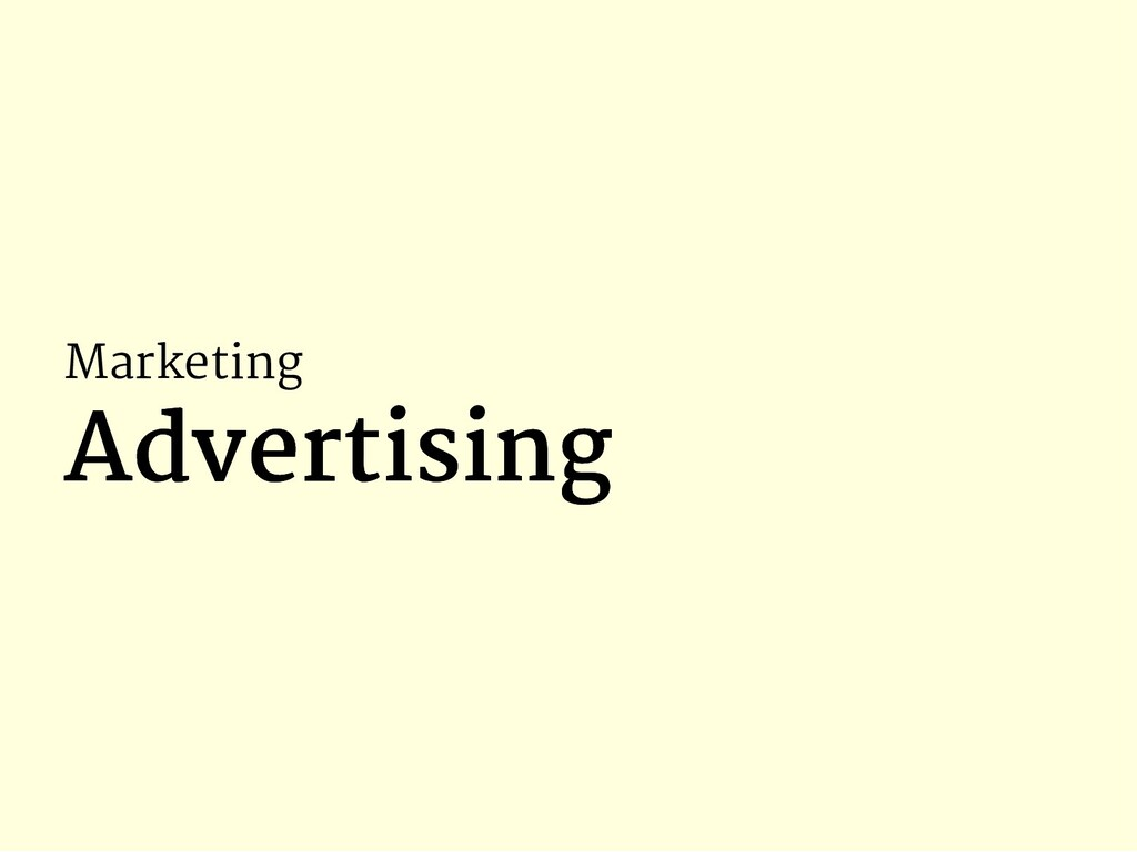 Marketing Advertising Advertising