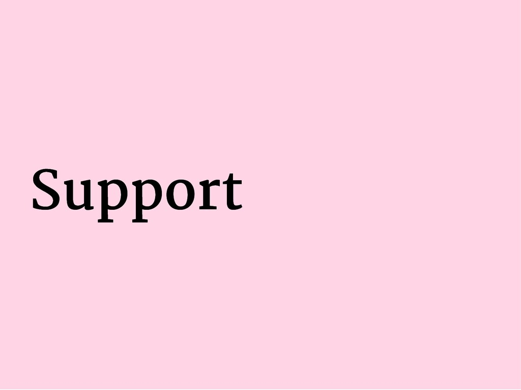 Support Support