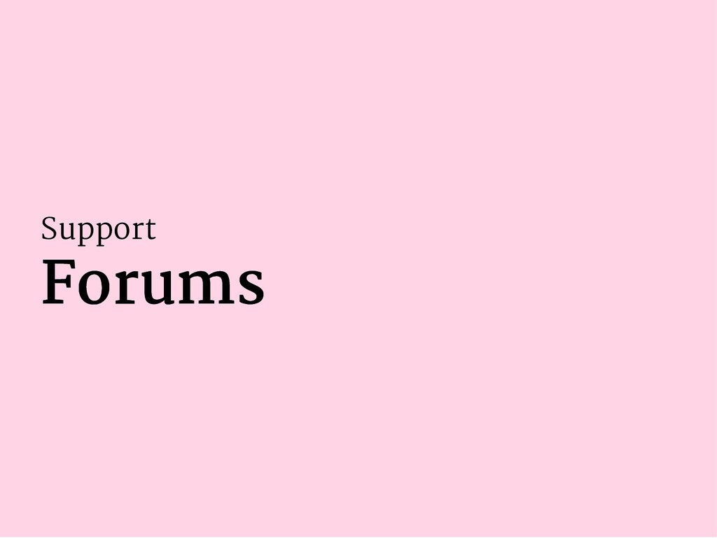 Support Forums Forums