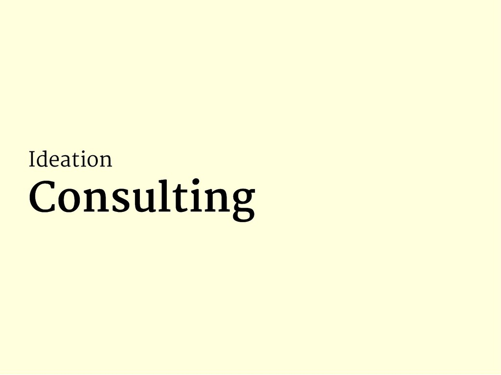 Ideation Consulting Consulting