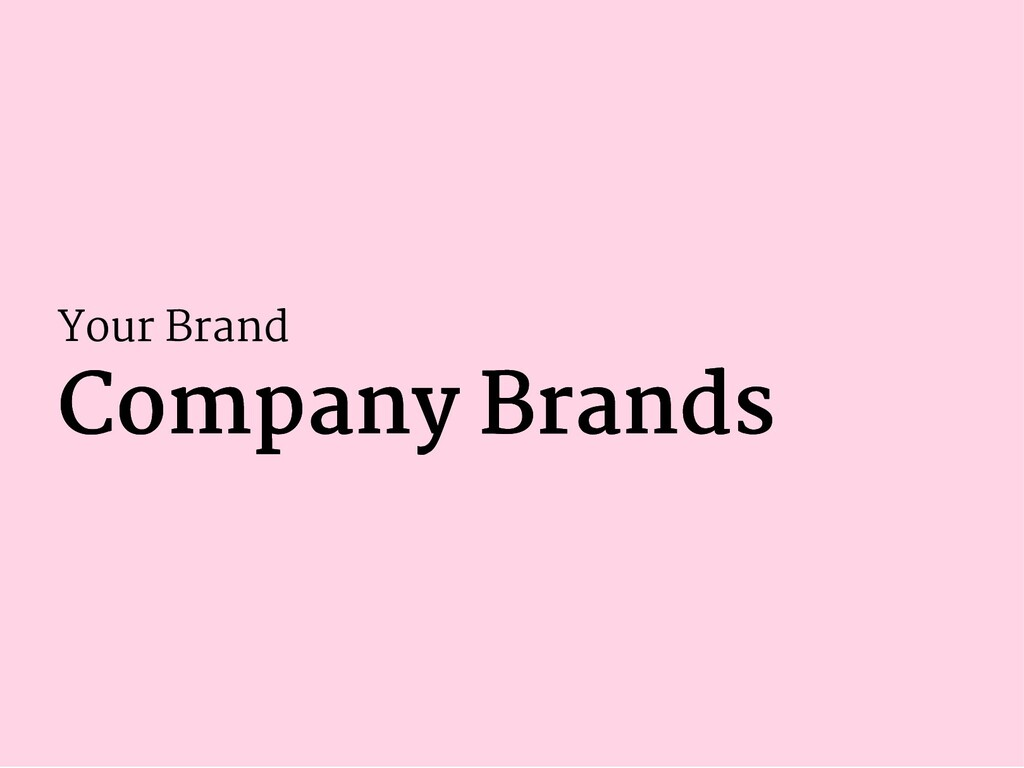 Your Brand Company Brands Company Brands