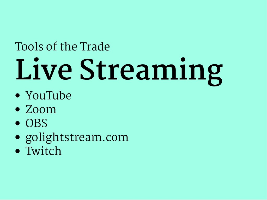 Tools of the Trade Live Streaming Live Streamin...