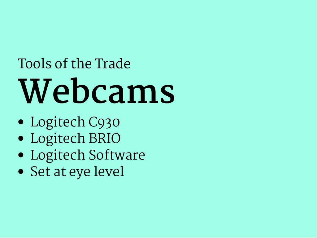 Tools of the Trade Webcams Webcams Logitech C93...
