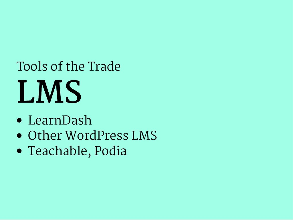 Tools of the Trade LMS LMS LearnDash Other Word...