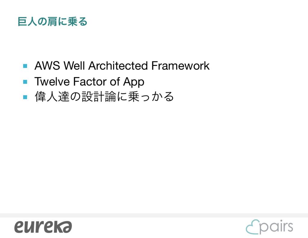 ڊਓͷݞʹΔ ■ AWS Well Architected Framework  ■ Twe...