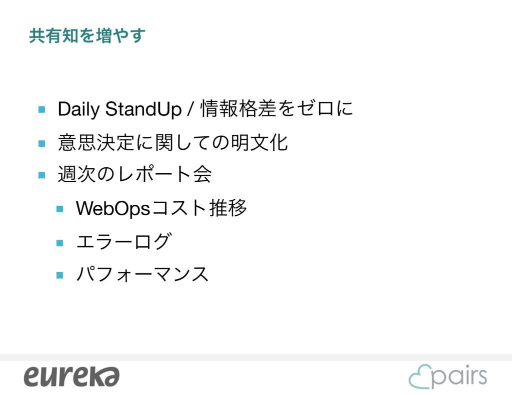 ڞ༗Λ૿͢ ■ Daily StandUp / ใ֨ࠩΛθϩʹ  ■ ҙࢥܾఆʹؔͯ͠ͷ...