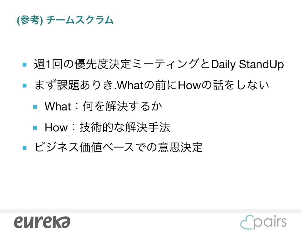 (ߟ) νʔϜεΫϥϜ ■ ि1ճͷ༏ઌܾఆϛʔςΟϯάͱDaily StandUp  ■...