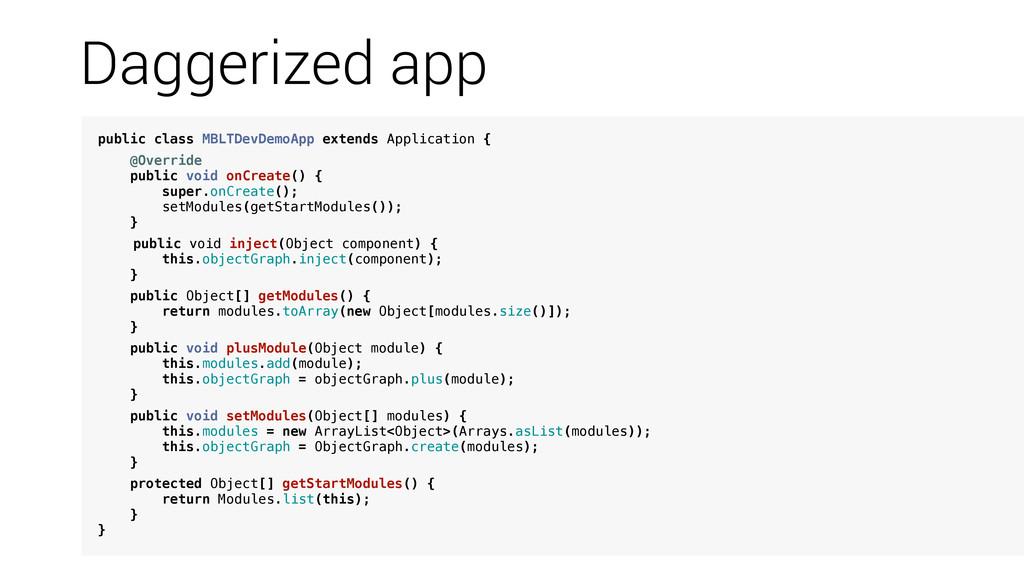 public class MBLTDevDemoApp extends Application...