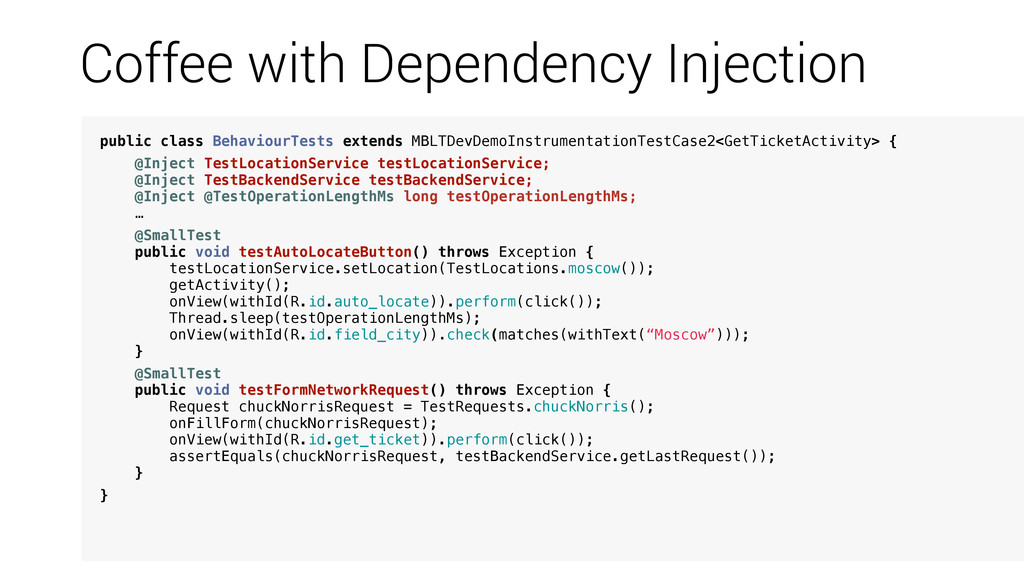 Coffee with Dependency Injection public class B...