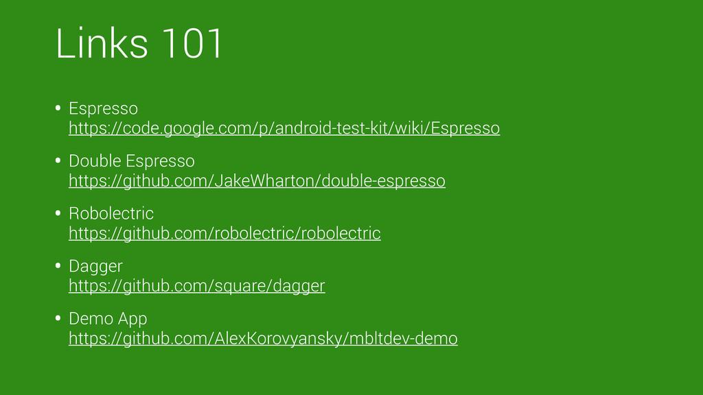 Links 101 • Espresso https://code.google.com/p...