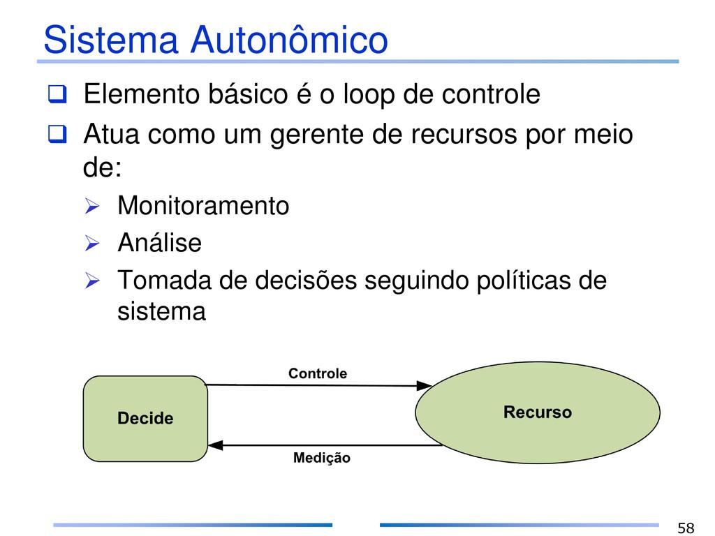 Sistema Autonômico  Elemento básico é o loop d...