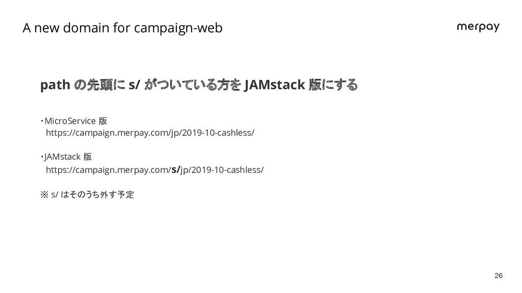 path の先頭に s/ がついている方を JAMstack 版にする ・MicroServi...
