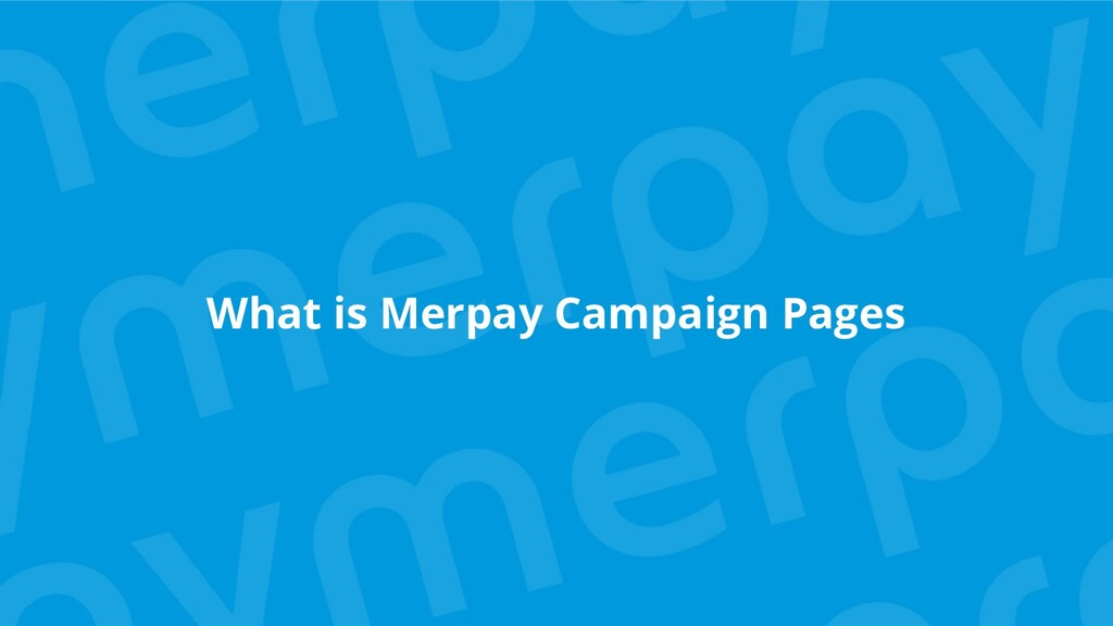 What is Merpay Campaign Pages