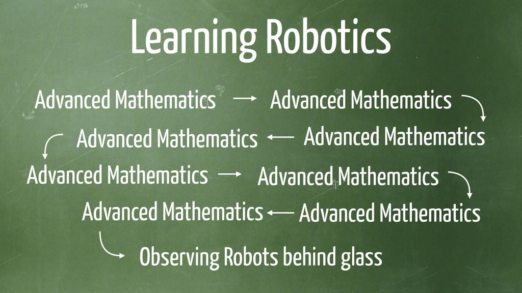 Advanced Mathematics Observing Robots behind gl...