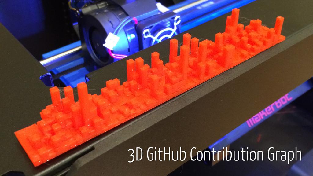 3D GitHub Contribution Graph