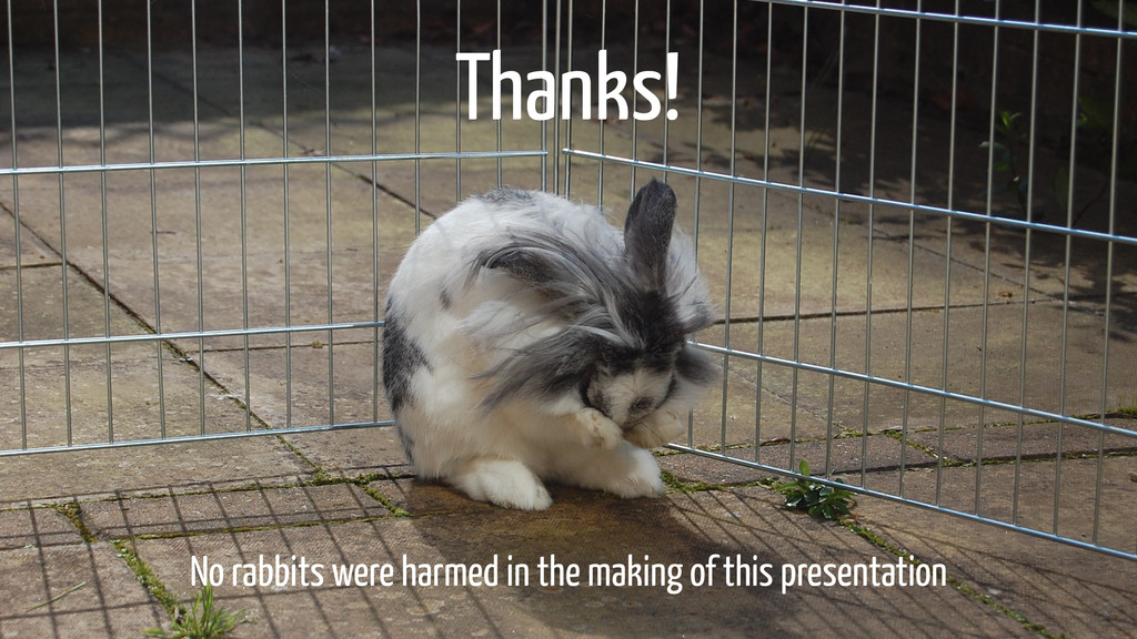 No rabbits were harmed in the making of this pr...