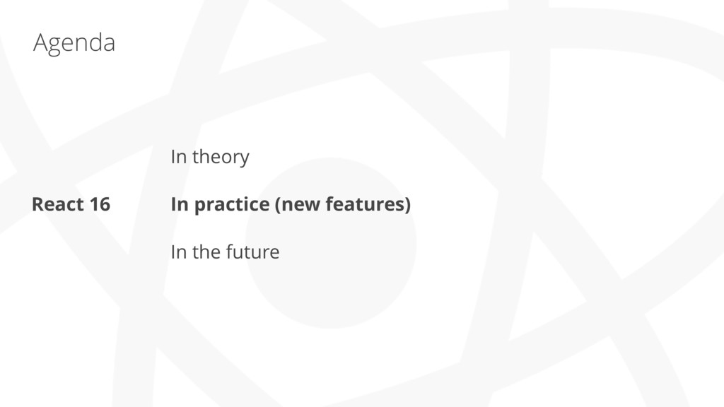 Agenda In theory In practice (new features) In ...