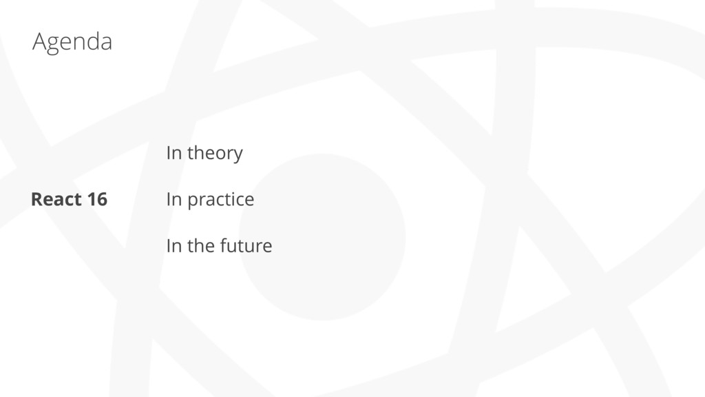 Agenda In theory In practice In the future Reac...