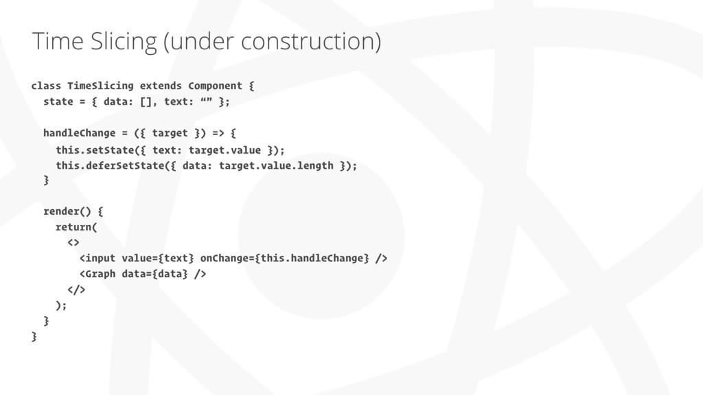 Time Slicing (under construction) class TimeSli...