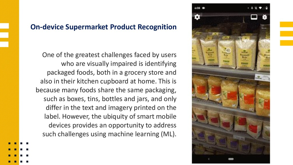 On-device Supermarket Product Recognition One o...