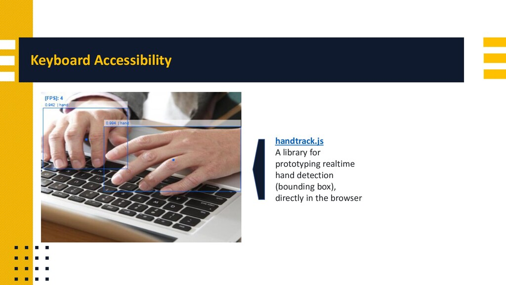 Keyboard Accessibility handtrack.js A library f...