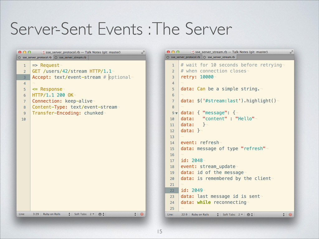 Server-Sent Events : The Server