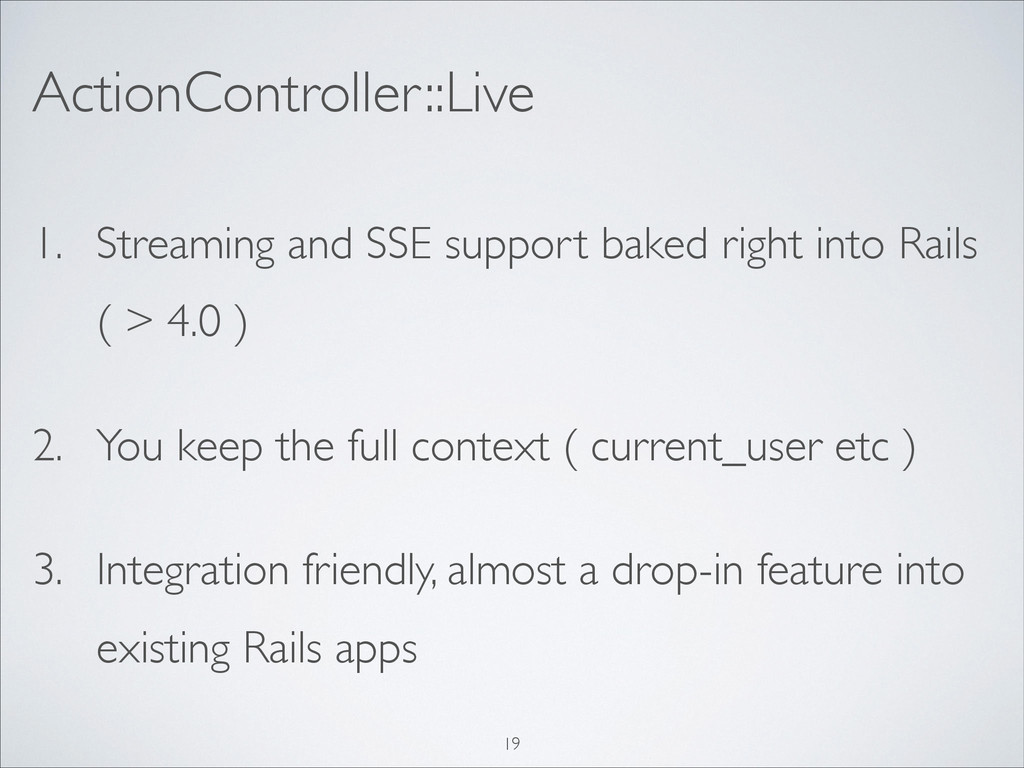 1. Streaming and SSE support baked right into R...