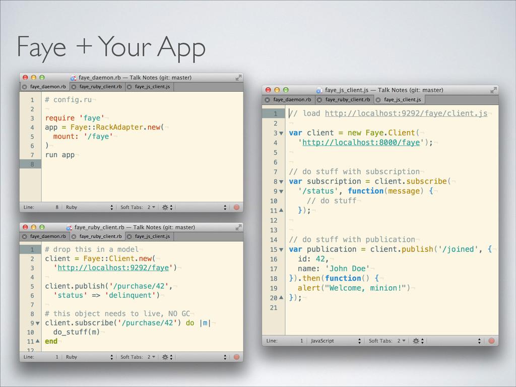 Faye + Your App