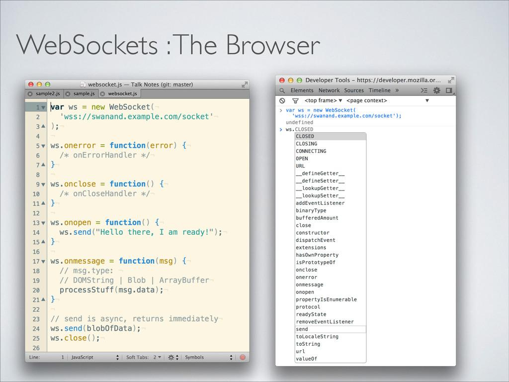 WebSockets : The Browser
