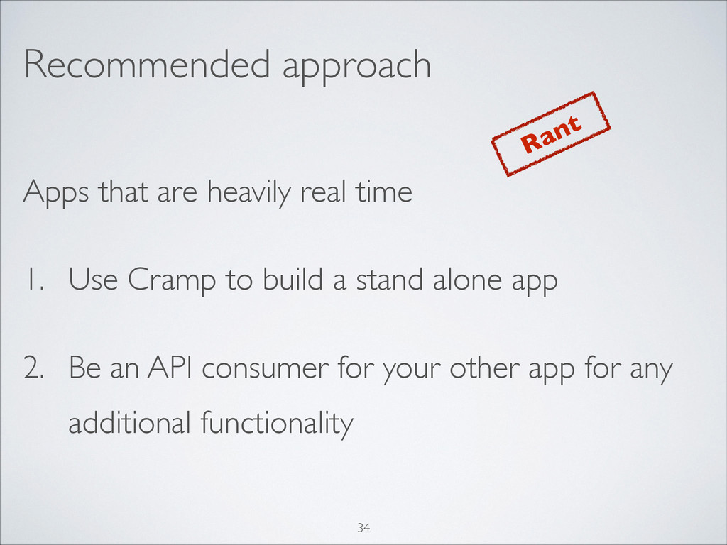 Recommended approach